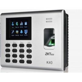 ZK K40 - CONTROL DE ACCESO SIMPLE Y ASISTENCIA / 1000 HUELLAS / PUERTO DE RED / USB / BATERIA INCLUIDA