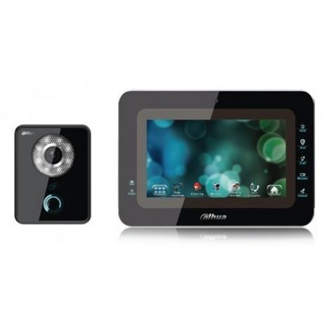 DAHUA KITVTH1560B6210B- VIDEOPORTERO CON FRENTE DE CALLE IP/ LCD TOUCH DE 7 PULGADAS/ CAMARA 1 MP/ RANURA SD 4GB/ IP65