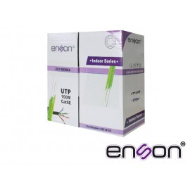 CABLE UTP BOBINA ENSON 12251B100 ECO CAT5E 100MTS NEGRO