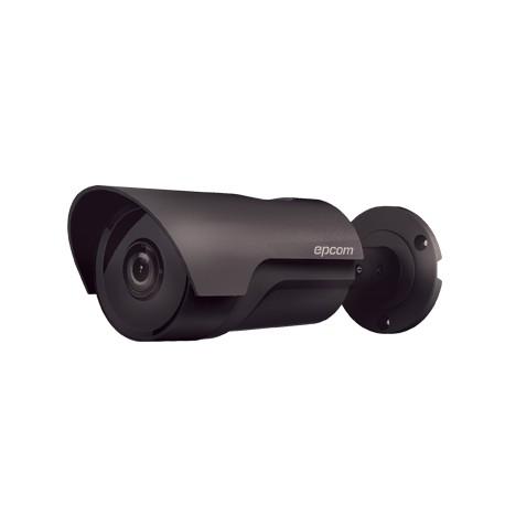 Cámara bala TurboHD 1080P con lente fijo de 3.6mm e IR inteligente con Doble EXIR polarizado para 80m, Color gris oscuro
