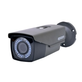 Cámara bala TurboHD 1080p con lente varifocal de 2.8 - 12mm e IR inteligente para 50mts, color gris oscuro