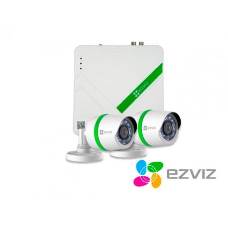 KIT 4X2 EZVIZ BD-2402B1 DVR720P + 2BUL720P+2CBL+DD1TB HDTVI