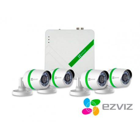 KIT 4X4 EZVIZ BD-2404B1 DVR720P + 4BUL720P+4CBL+DD1TB HDTVI