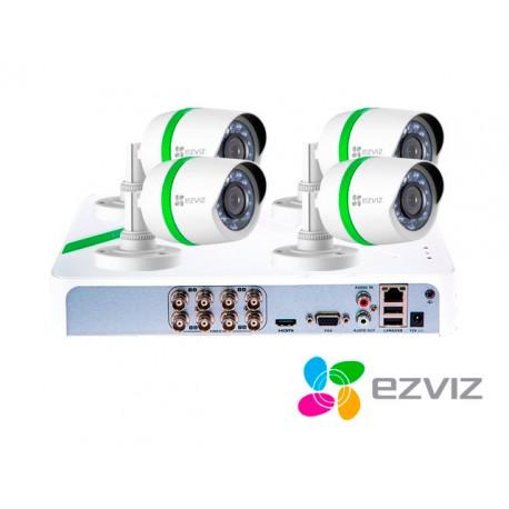 KIT 8X4 EZVIZ BD-2804B1 DVR8CH720P + 4BUL720P+4CBL+DD1TB TVI