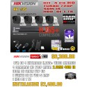 KIT HIKVISION DE 4 CH 1MP H.265+
